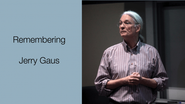 Remembering Jerry Gaus